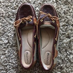 Sperry's NWOT Brown Leather Boat Shoes size 9
